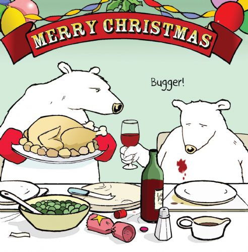 CAN11 – Christmas Dinner Bugger Humour Card